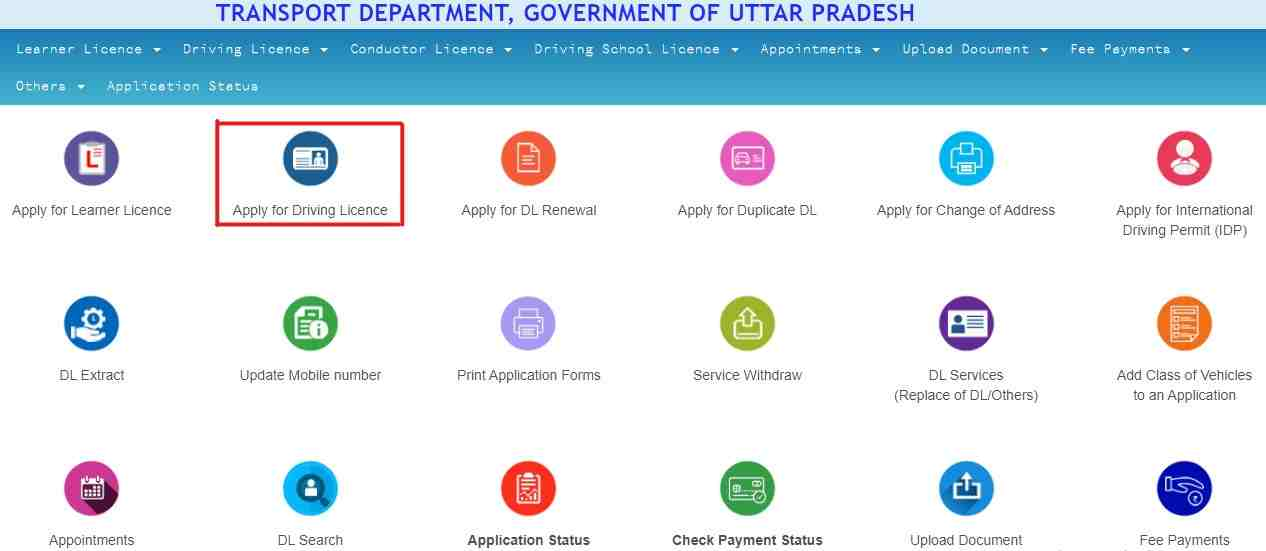 Sarathi Parivahan- Apply for Driving Licence