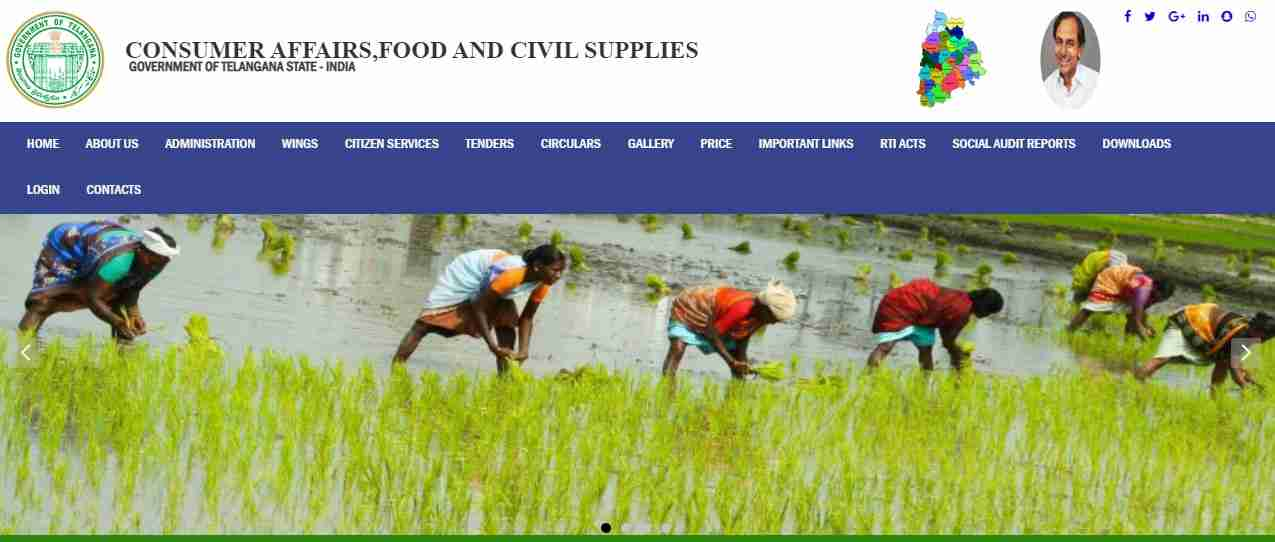 FSC Search Telangana Steps to Find the FSC Ration Card List in Telangana